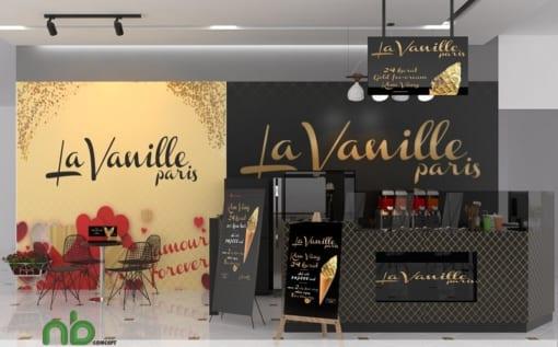 Thiết kế nội thất nhà hàng kem Pháp La Vanille Paris 2