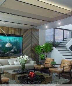 thiết kế nội thất biệt thự Hoa Phượng Vinhomes Riverside