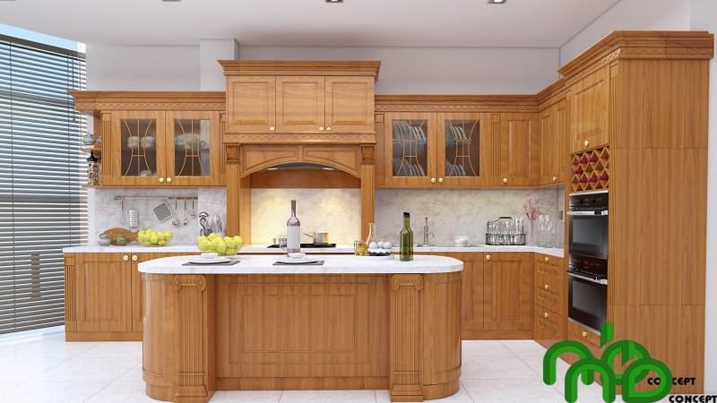Tủ gỗ bếp giá bao nhiêu?