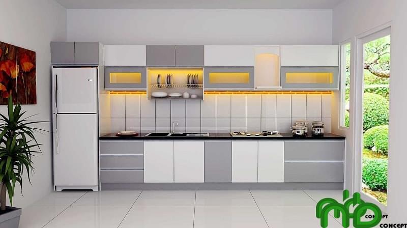 Tủ bếp cho không gian kiến trúc hiện đại, tinh tế