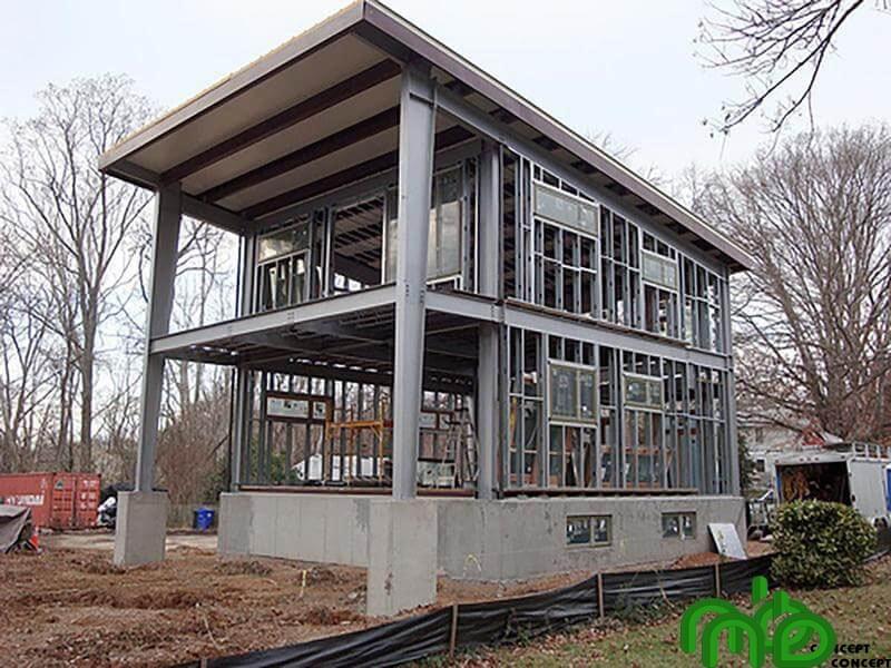Nhà tiền chế được xây dựng hoàn toàn bằng thép nên công trình này đem lại tính bền vững cao