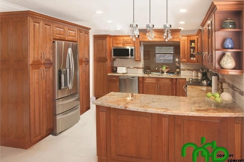 Tủ bếp thể hiện cá tính riêng cho không gian kiến trúc ngôi nhà