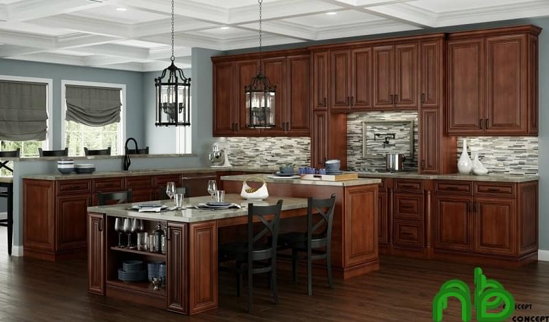 Tủ bếp gỗ - nội thất quan trọng trong những ngôi nhà cao cấp