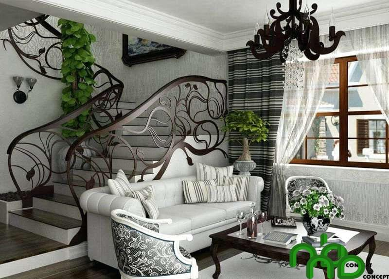 Art Nouveau tạo nên vẻ đẹp sang trọng, đậm chất quyền quý