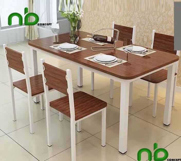 Bàn ăn 4 ghế bằng gỗ công nghiệp đẹp giá rẻ