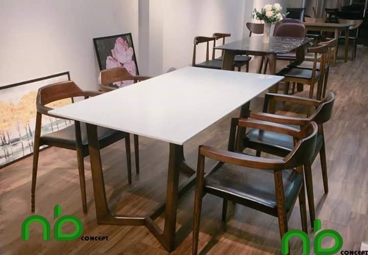 Bộ bàn ghế ăn gỗ Hiroshima