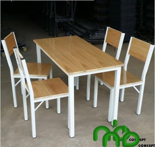 Bộ bàn ăn gỗ ép