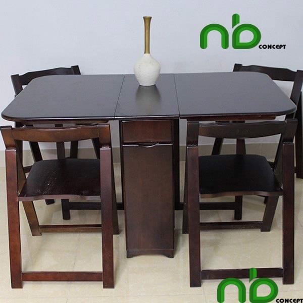 Bộ bàn ghế gỗ tối màu