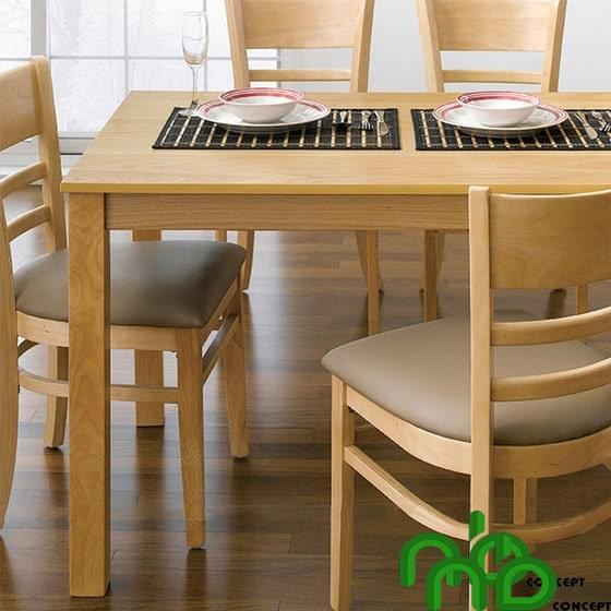 Bộ bàn ghế ăn 4 chỗ màu gỗ sáng