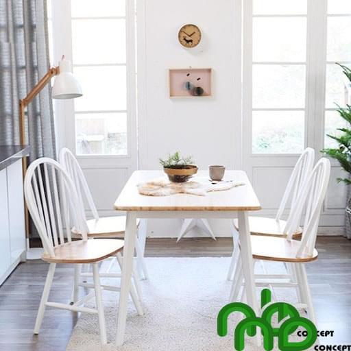 Bộ bàn ăn 4 ghế theo phong cách tối giản