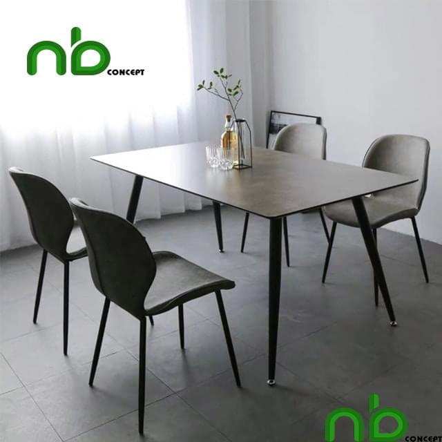 Bộ bàn ghế ăn 4 ghế tối màu