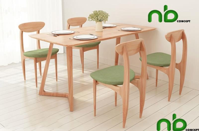 Bộ bàn ăn 4 ghế xinh xắn