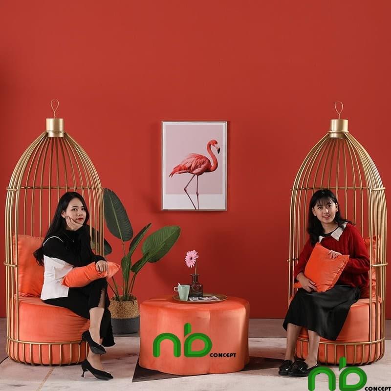 Ghế lồng chim có thiết kế độc đáo và vô cùng bền chắc