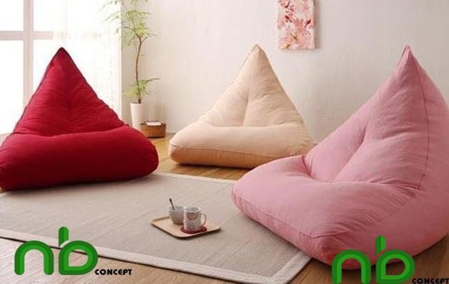 Ghế lười có thiết kế độc đáo và nhiều màu sắc