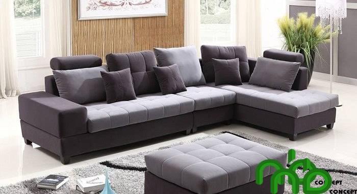 Ghế sofa chữ L có thể vừa tiếp khách vừa có thể đọc sách hoặc thư giãn