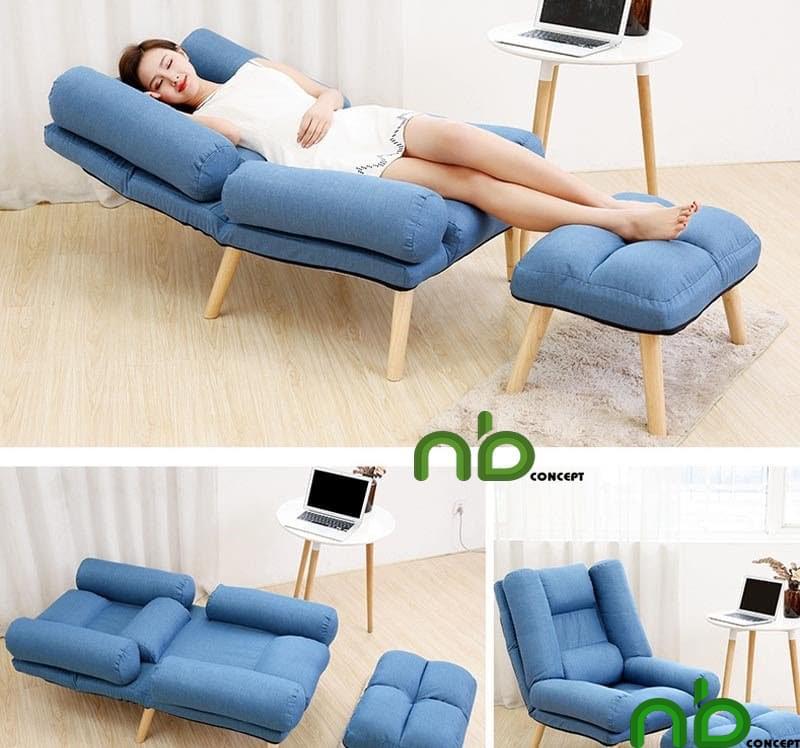 Ghế sofa gập ngả thông minh có kiểu dáng vô cùng sang trọng và hiện đại