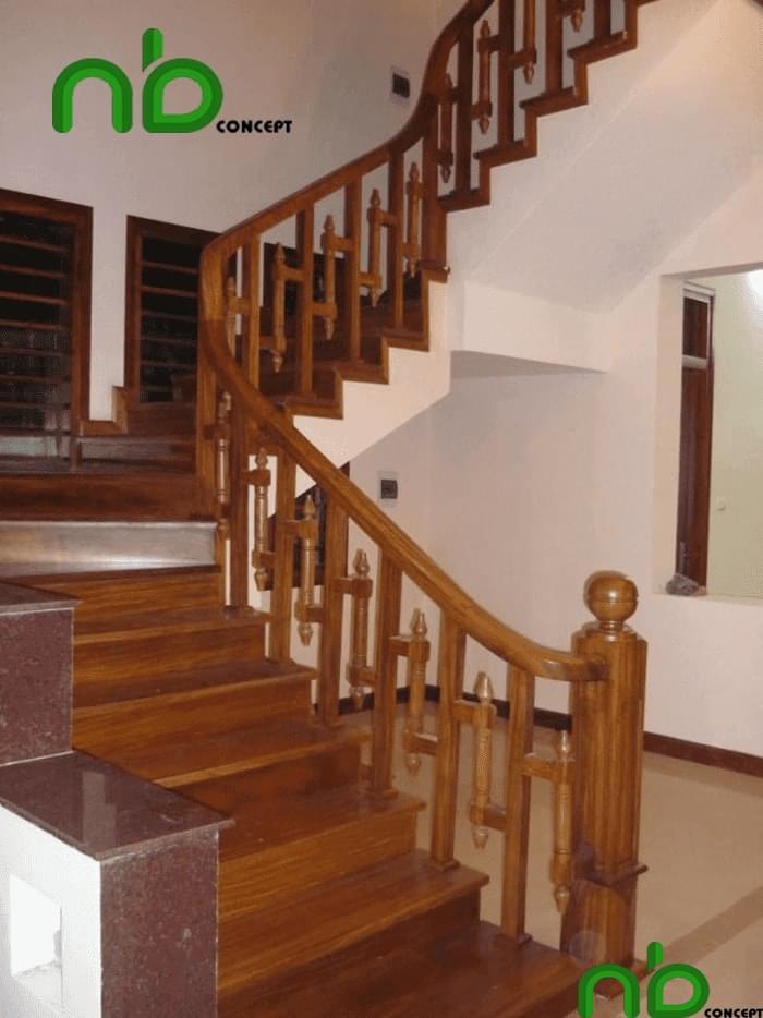 Mẫu thiết kế cầu thang gỗ đẹp pha chút hiện đại cho ngôi nhà của bạn