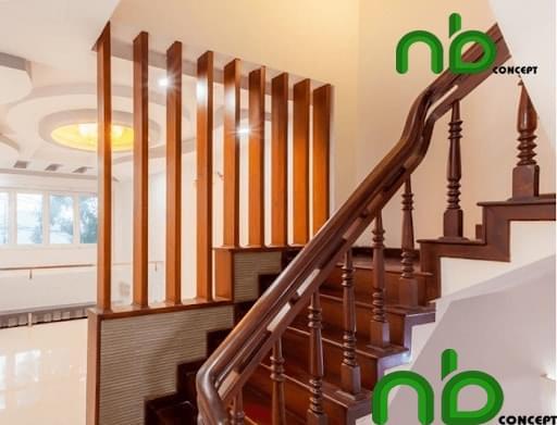 Mẫu cầu thang gỗ đẹp với đầy đủ họa tiết