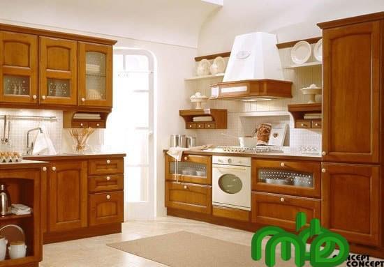 Tủ bếp gỗ căm xe sang trọng, đẹp mắt