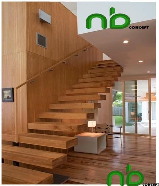 Mẫu cầu thang gỗ đẹp mà đơn giản bằng gỗ tự nhiên