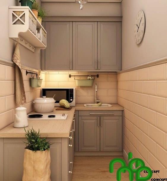 Không gian bếp thông minh tận dụng tối đa không gian sử dụng