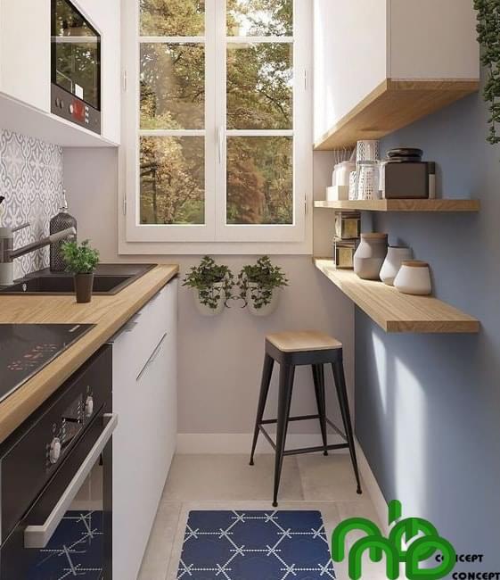 Không gian bếp thông minh tận dụng tối đa