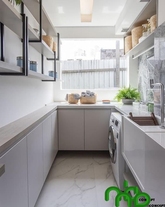Mẫu thiết kế tủ bếp thông mình tối đa không gian trong nhà bếp