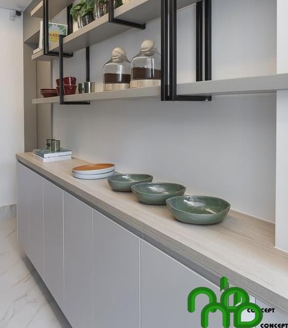 Mẫu thiết kế tủ bếp thông minh sang trọng