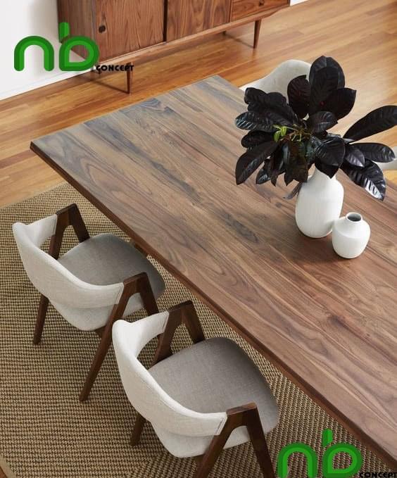 Bộ bàn ghế ăn bằng gỗ