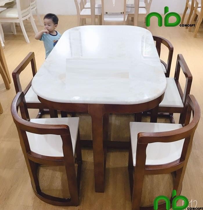 Bộ bàn ghế ăn dành cho 6 người ăn