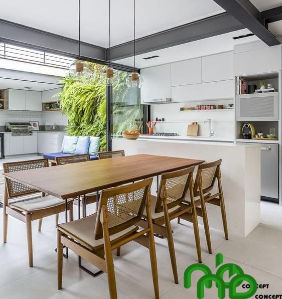 Không gian nhà bếp chỉ với một chiếc tủ bếp