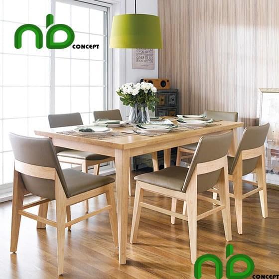 Sản phẩm bộ bàn ăn gỗ sồi