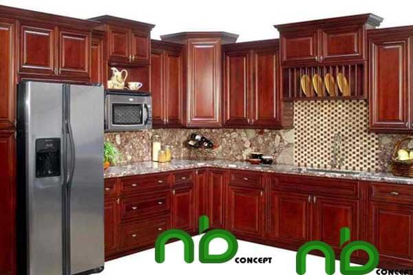 Tủ bếp bao gồm bàn và tủ chạn bếp