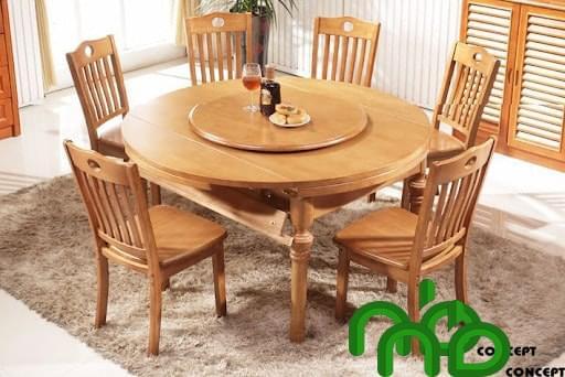 Mẫu bộ bàn phù hợp với gia đình 5 -6 người