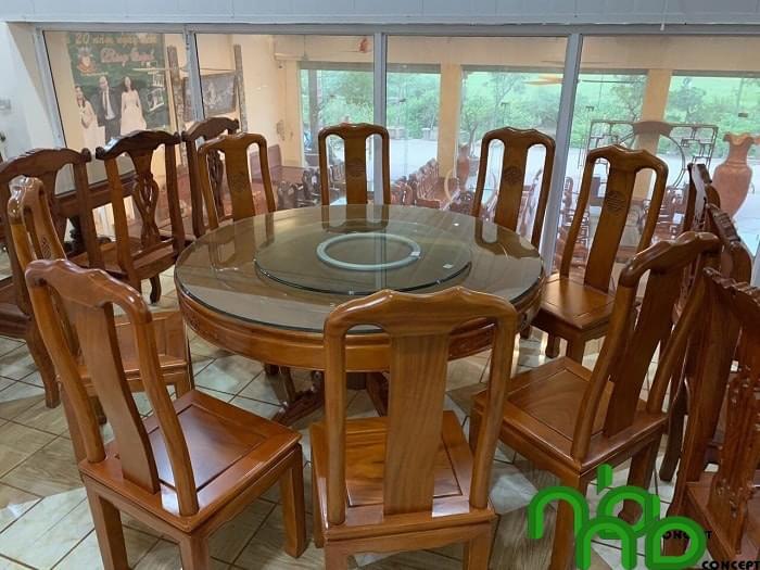Bộ bàn tròn 8 ghế-