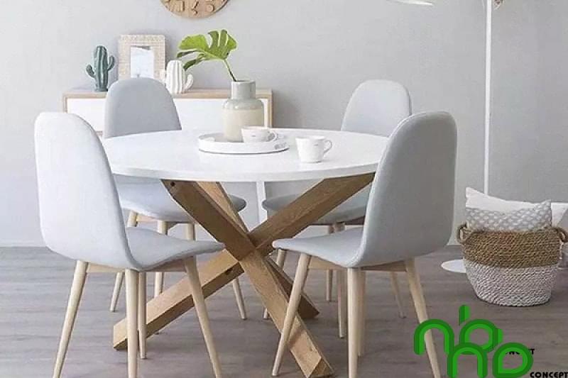 Mẫu bộ bàn ghế tròn đẹp 7