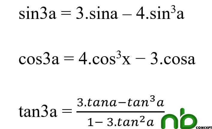 Tuyển tập công thức lượng giác dễ hiểu nhất 9