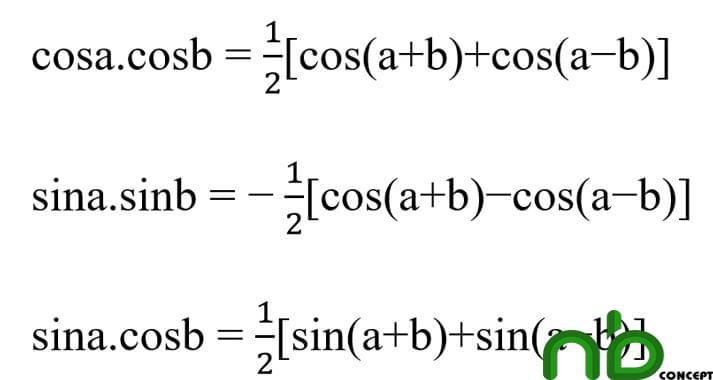 Tuyển tập công thức lượng giác dễ hiểu nhất 12