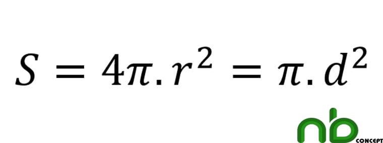 Công thức tính diện tích hình cầu, diện tích mặt cầu chính xác 4