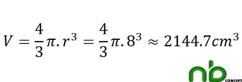 Công thức tính diện tích hình cầu, diện tích mặt cầu chính xác 7