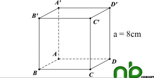 Công thức tính diện tích xung quanh, diện tích toàn phần hình lập phương 3