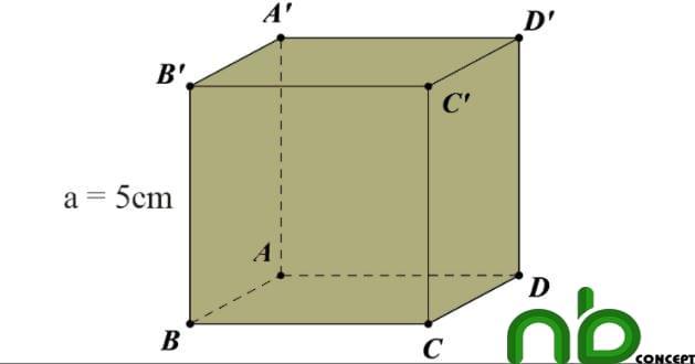 Công thức tính diện tích xung quanh, diện tích toàn phần hình lập phương 7